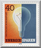 Bild Energiesparen Briefmarke
